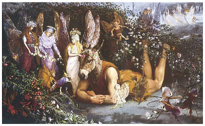 Midsummer Painting - Titania And Bottom  by John Anster Fitzgerald