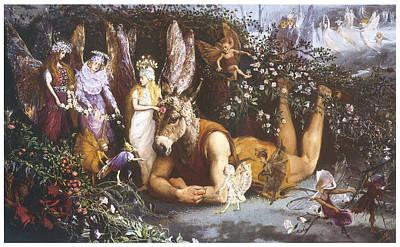 Titania And Bottom  Art Print