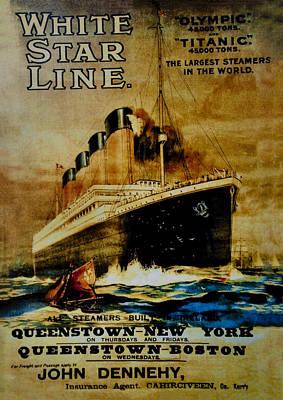 Titanic - White Star Line Art Print by Bill Cannon