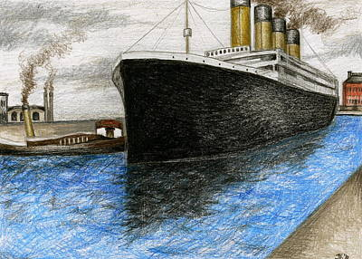 Titanic At Southampton Art Print
