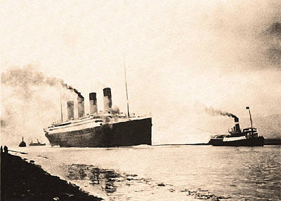 Titanic - Heading Out To Sea Art Print by Bill Cannon