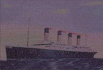 Titanic Passenger Mosaic Art Print by Paul Van Scott