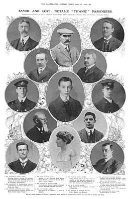 Photograph - Titanic Passengers & Crew by Granger