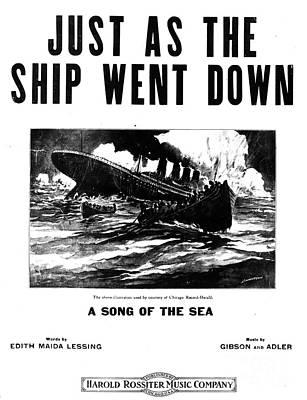 Titanic: Sheet Music, 1912 Art Print by Granger