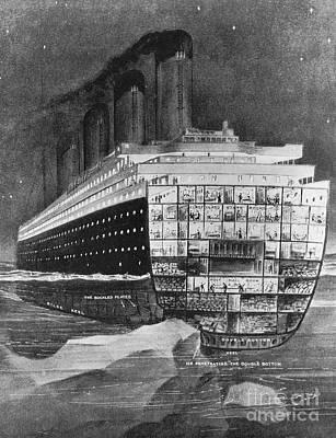 Titanic: Shipwreck, 1912 Art Print by Granger