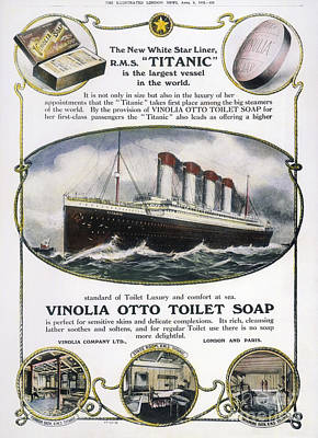 Photograph - Titanic: Soap Ad, 1912 by Granger