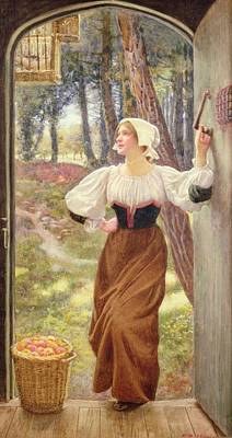 Basket Painting - Tithe In Kind by Edward Robert Hughes