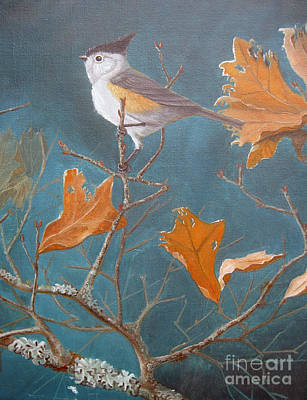 Painting - Titmouse by Rick Mittelstedt