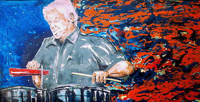 Etc Painting - Tito Puente by Omar Javier Correa