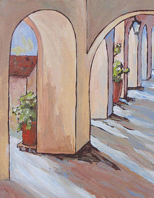Tlaquepaque Arches Art Print by Sandy Tracey