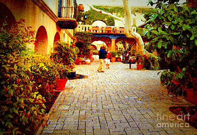Photograph - Tlaquepaque Village Courtyard by Christine S Zipps
