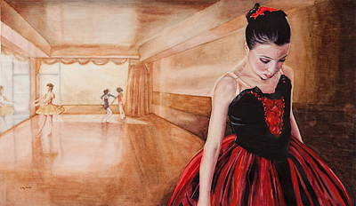To Dance To Dream Art Print by Kathy Michels