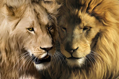 Lion Digital Art - To Dance With My Father Again by Julie L Hoddinott