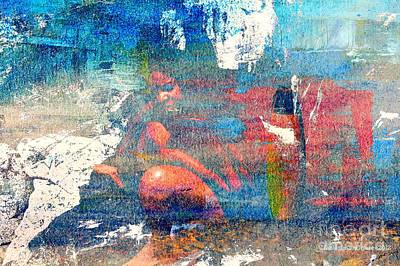 A Working Republique Mixed Media - To Feel Blue by Fania Simon