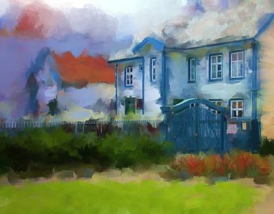 To Glass Restaurant And Vinbar Haugesund Art Print by Michael Greenaway