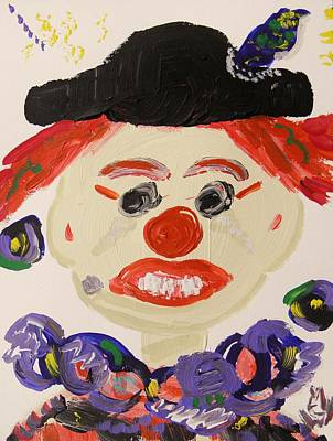 Balck Art Painting - To Make People Laugh by Mary Carol Williams