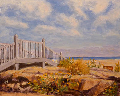 Art Print featuring the painting To The Beach by Joe Bergholm