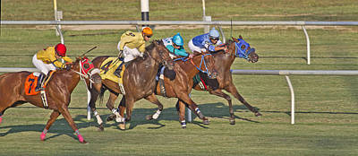 Horse Racing Photograph - To The Line by Betsy Knapp