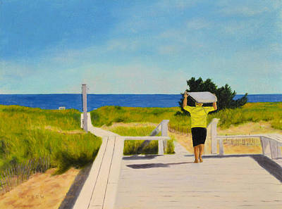 Painting - To The Surf by William Frew