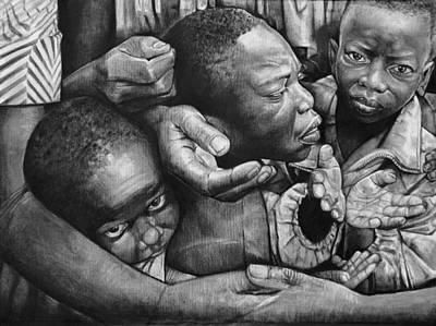 Artist Curtis James Drawing - To Whom Much Is Given Much Is Required by Curtis James