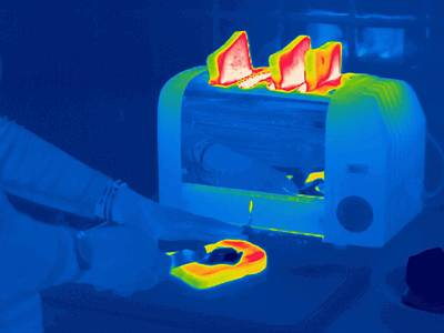 Toast, Thermogram Art Print by Tony Mcconnell