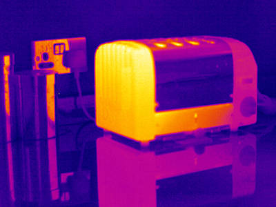 Toaster Photograph - Toaster, Thermogram by Tony Mcconnell