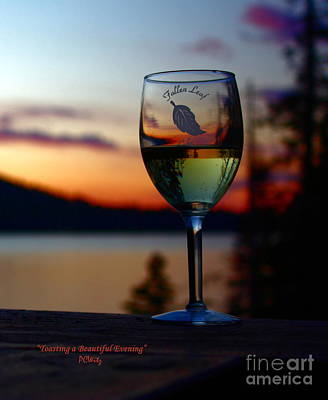 Toasting A Beautiful Evening Art Print