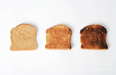 Toasting Bread Art Print by Photo Researchers, Inc.