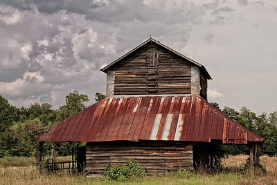 Tobacco Barn On Stormy Day Art Print