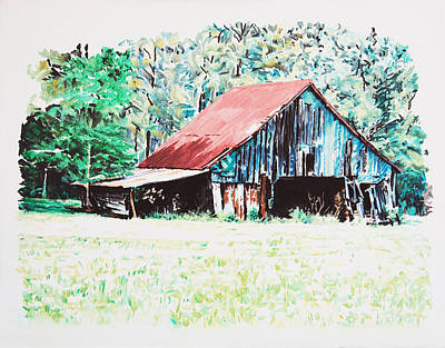 Tobacco Barn Original by Tommy Midyette