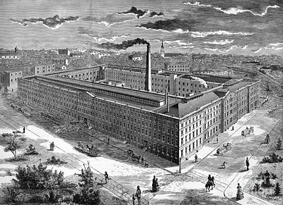 Tobacco Factory, 1876 Art Print by Granger