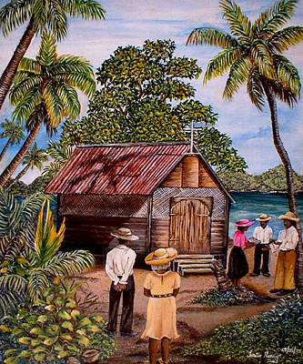 Painting - Toco Church by Trister Hosang