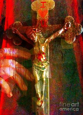 Today I Plead The Blood Of Jesus Over Me Art Print by Fania Simon