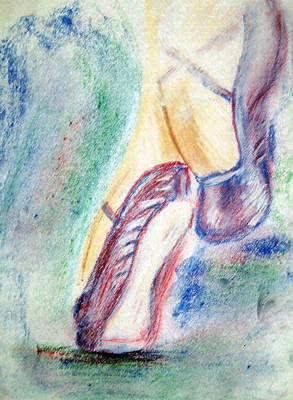 Drawing - Toes by Shelley Bain
