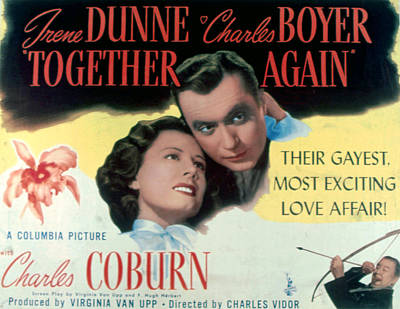 Together Again, Irene Dunne, Charles Art Print