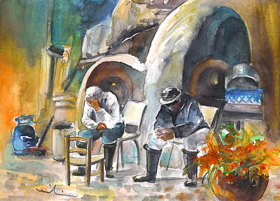 Painting - Together Old In Cyprus 07 by Miki De Goodaboom