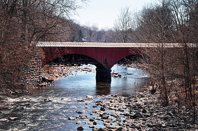 Aqueduct Digital Art - Tohickon Creek Aqueduct Point Pleasant Pa by Bill Cannon