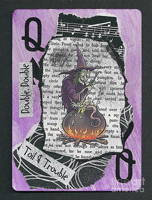 Mixed Media - Toil And Trouble by Ruby Cross