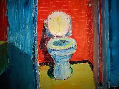 Toilet Painting Art Print by John Geannaris