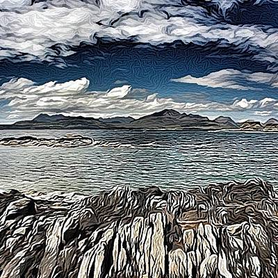 Impressionism Wall Art - Photograph - Tokavaig To The Black Cuillins by Robert Campbell