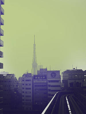 Japan City Photograph - Tokyo City Ride by Naxart Studio