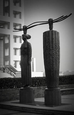 Japan City Photograph - Tokyo City Sculptures by Naxart Studio