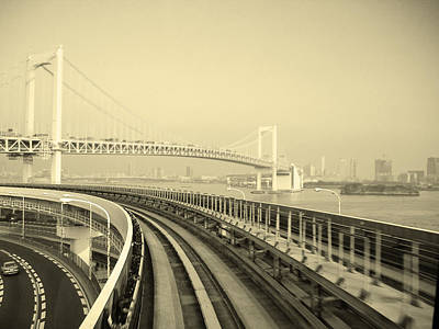 Intersection Photograph - Tokyo Metro Ride by Naxart Studio