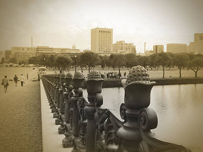 Palace Photograph - Tokyo Square by Naxart Studio