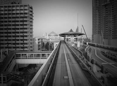 Downtown Photograph - Tokyo Train Ride 1 by Naxart Studio