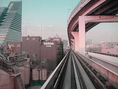 Japan City Photograph - Tokyo Train Ride 5 by Naxart Studio