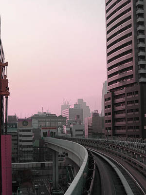 Downtown Photograph - Tokyo Train Ride 6 by Naxart Studio