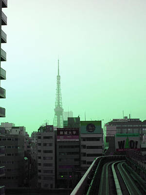 Downtown Photograph - Tokyo Train Ride 7 by Naxart Studio