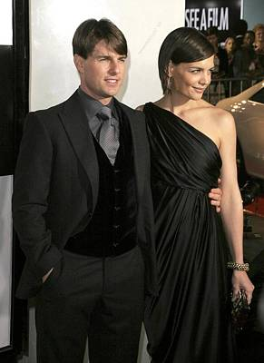 Tom Cruise, Katie Holmes Wearing Art Print by Everett