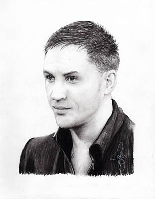 Hardy Drawing - Tom Hardy by Rosalinda Markle